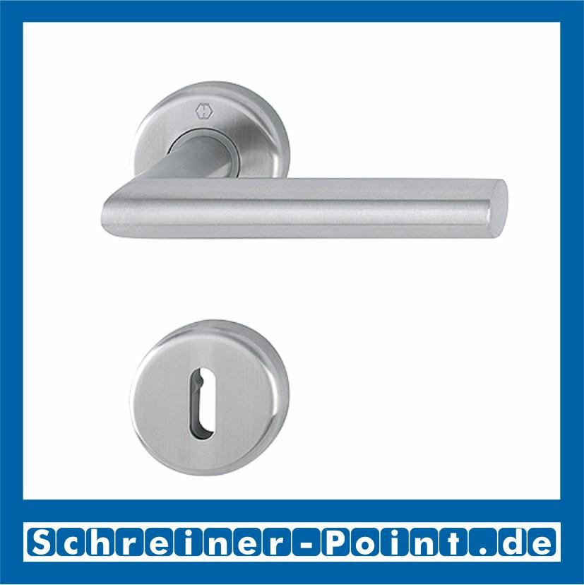 Hoppe Stockholm Edelstahl matt F69 Langschild E1140Z//273P Bad Garnitur WC