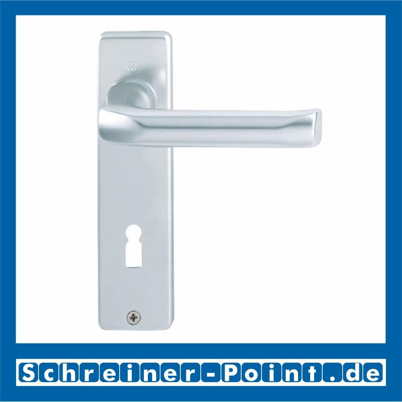 Hoppe Luxembourg F9 Alu Stahl Aluminium Langschild 199//273P OB Ovalbart BB